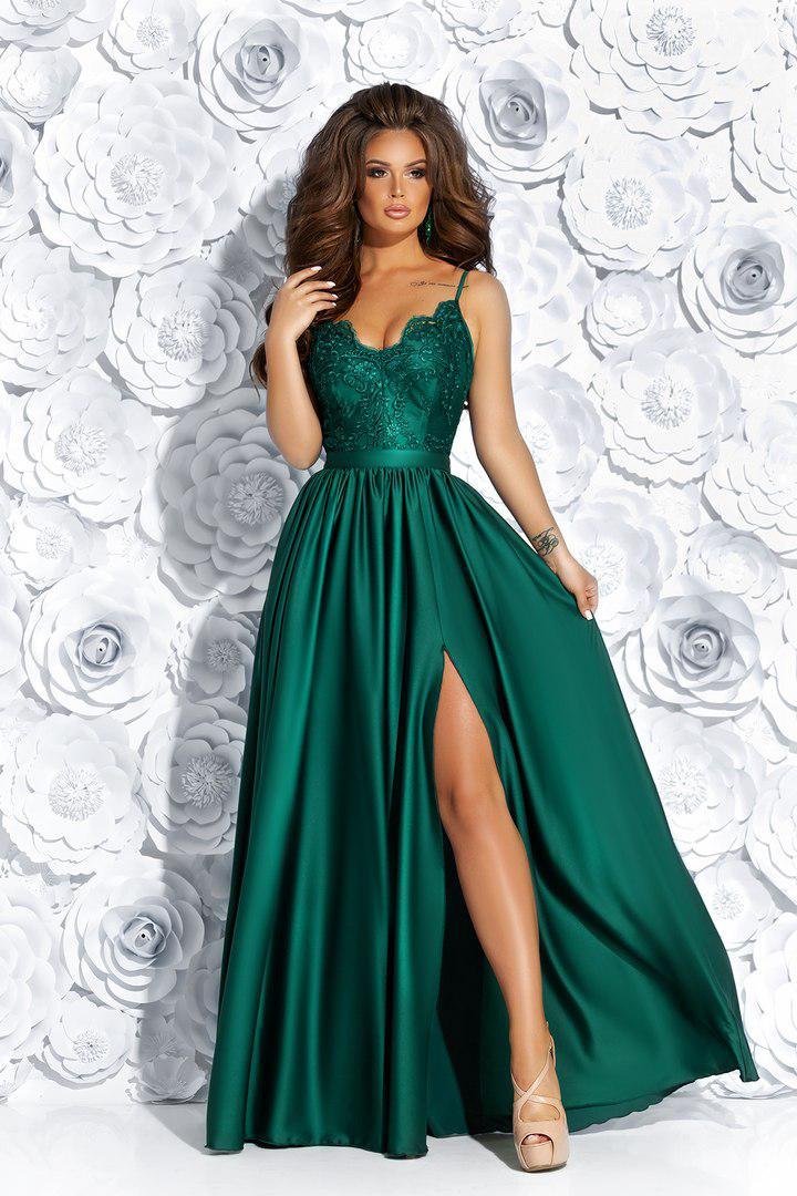 b8fc840f21eadcf Купить Вечернее платье с разрезом в магазине «Аlion» - 719490825