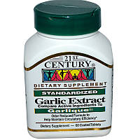 Чеснок, 21st Century Health Care, 60 таблеток