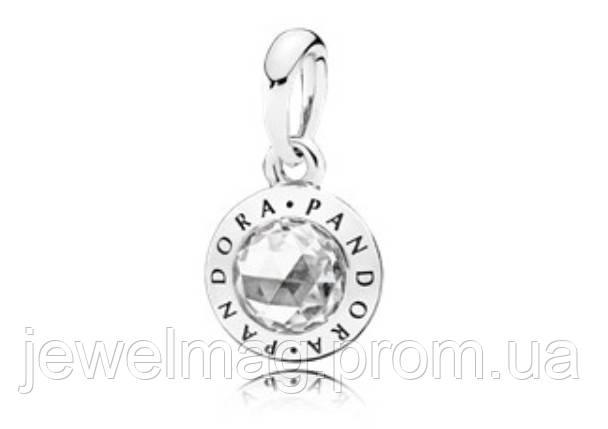 Подвеска-шарм «Сияющая логомания» из серебра 925 пробы