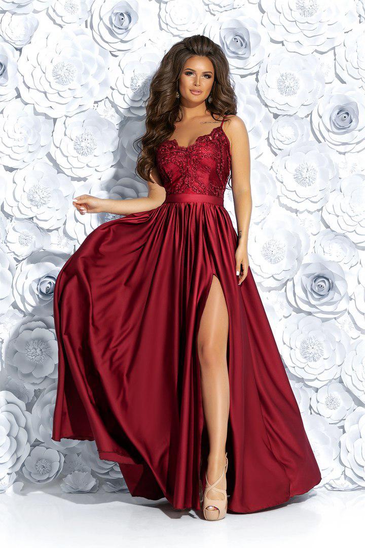 f6dae85d5b9ae1a Купить Вечернее платье с разрезом в магазине «Аlion» - 719490836