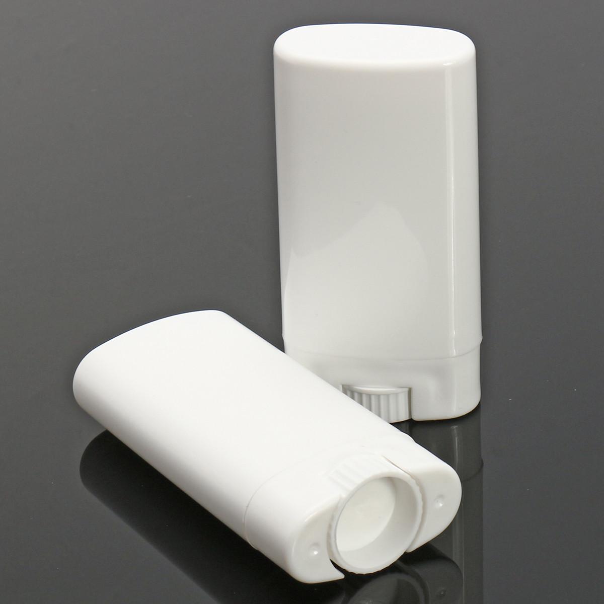 10шт Белые пустые контейнеры для дезодорантов Многоразовые овальные бальзам для губ Twist Up Трубка с крышками для крышки 1TopShop
