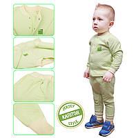 Трикотажный костюм 2в1 для мальчика 1-4 года, капитон (кофта, брюки) р. 80-104 ТМ ЭКО ПУПС салатовый, фото 1