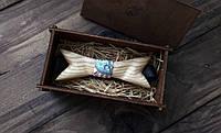 Стильный галстук - бабочка из дерева