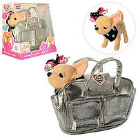 Собачка М 3483 UA Кикки, с звуковыми эффектами на украинском языке, в стильной сумочке, модница чихуахуа
