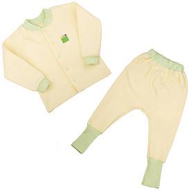 Трикотажний костюм 2в1 капітон (кофта, штани) для дівчинки 1-4 р. 80-104 ТМ ЕКО-ПУПС лимон