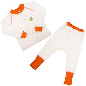 Трикотажний костюм 2в1 капітон (кофта, штани) для дівчинки 1-4 р. 80-104 ТМ ЕКО-ПУПС молочний