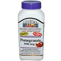Гранат, 21st Century Health Care, 500 мг, 120 кап.