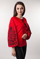 Красная женская вышиванка Дерево жизни, фото 1