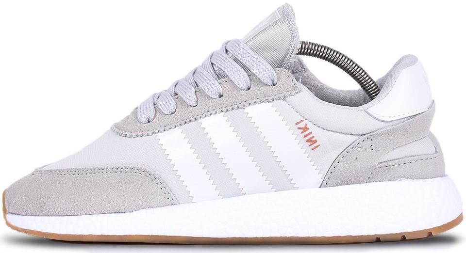 """Женские кроссовки adidas Iniki """"Gray/White"""" (Адидас Иники) серые"""