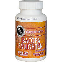 Advanced Orthomolecular Research AOR, Аюрведическая серия,Bacopa Enlighten, 60 растительных капсул