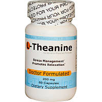 L-Теанин, L-Theanine, Advance Physician Formulas, 60 капсул