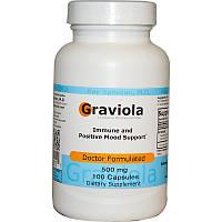 Гравиола (Гуанабана), Advance Physician Formulas, 500 мг, 100 капсул