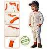 Трикотажный костюм 2в1 капитон (кофта, брюки) для мальчика 1-4 года р. 80-104 ТМ ЭКО ПУПС молочный