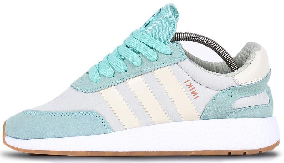 """Женские кроссовки adidas Iniki """"Mint/White"""" (Адидас Иники) мятные"""