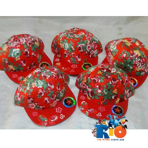Детская летняя кепка для девочки  р-р 52-54 (5 ед. в уп)