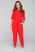 Красный женский повседневный костюм, фото 1