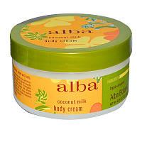 Alba Botanica, Крем для тела, кокосовое молочко, 6,5 унций (180 г)