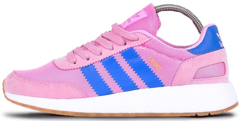 """Женские кроссовки adidas Iniki """"Pink/Blue"""" (Адидас Иники) розовые"""
