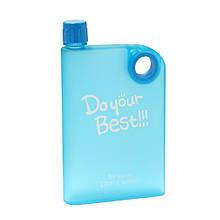 Бутылка A5 Notebook Portable cup. размер А5 380 мл. (голубой)