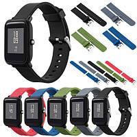Mijobs Color Силиконовый Запасной ремень для Xiaomi Amazfit Bip BIT PACE Lite Youth Smart Watch