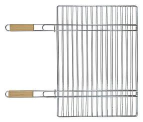 Решетка-гриль для мяса 40х57см, с двумя деревянными ручками 67см Sunday (73-506) шт.