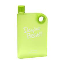 Бутылка A5 Notebook Portable cup. размер А5 380 мл. (салатовый)