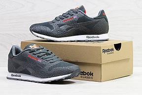 Мужские кроссовки Reebok,серые,сетка (реплика), фото 2