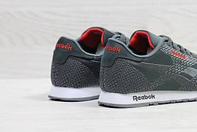 Мужские кроссовки Reebok,серые,сетка (реплика), фото 3
