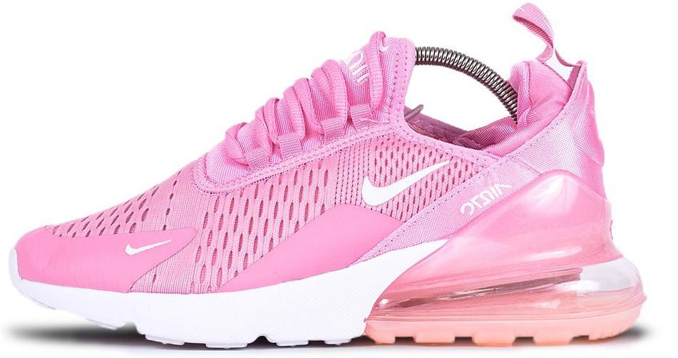 "Женские кроссовки Nike Air Max 270 ""Pink/White"" (Найк Аир Макс) розовые"