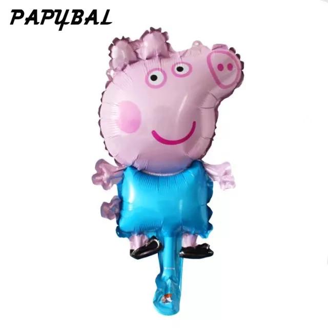 Фольгированный шарик мини Свинка Джердж 40см.