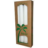 Aloha Bay, Свечи из пальмового воска, без запаха, белые, 4 шт., длина 9 дюймов (23 см)