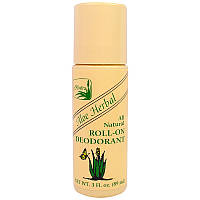 Alvera, Aloe Herbal All Natural Roll On Deodorant, 89 мл