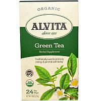 Alvita Teas, Зеленый чай, органический, 24 пакетика, 51 г