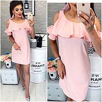 Летнее платье ( арт. 820 ), ткань супер софт, цвет розовая пудра