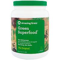 Amazing Grass, Зеленый суперпродукт, полностью натуральный сухой напиток, 28 унций (800 г), фото 1