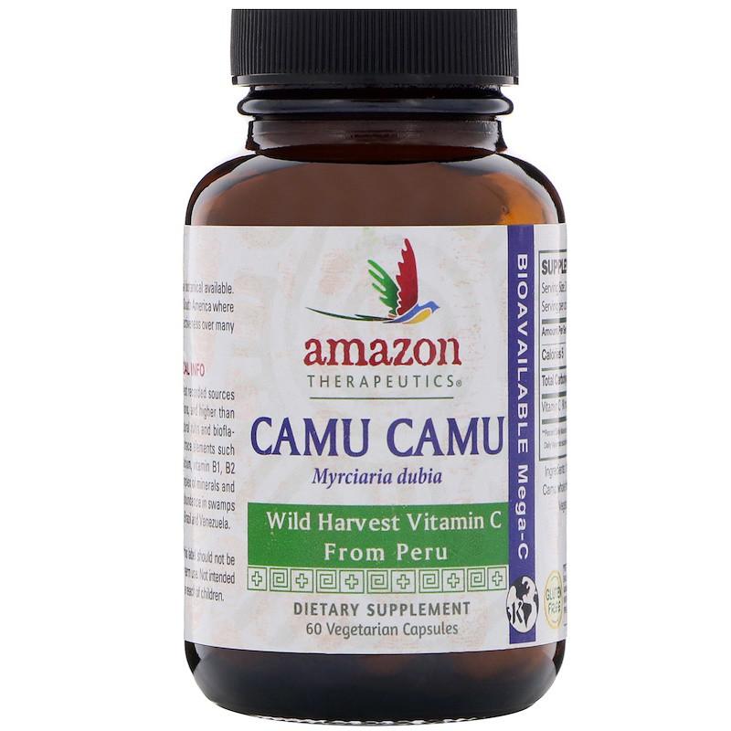 Каму-каму (витамин-С), Camu Camu, Mega-C, Amazon Therapeutics, 60 капсул