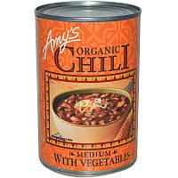 Красная фасоль, неострый чили с овощами, Chili with Vegetables, Amy's, 416 г
