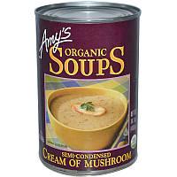 Amy's, Органические супы, грибной суп-пюре, 14,1 унций (400 гр)