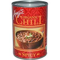 Красная фасоль, острый чили, Chili, Spicy, Amy's, 416 г
