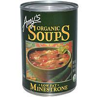 Amy's, Органические супы, овощной с низким содержанием жира, 14,1 унции (400 г)