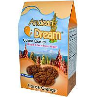 Печенье из киноа с какао и апельсином, Quinoa Cookies, Andean Dream, 198 г