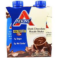Роял шейк со вкусом тёмного шоколада, Atkins, 4 шейка