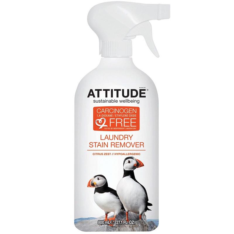 Пятновыводитель для ткани,  Stain Remover, ATTITUDE, 800 мл
