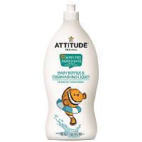 ATTITUDE, Little Ones, миникультуральный флакон и жидкость для мытья посуды, нектар грушы, 23,7 жидких унций (700 мл)