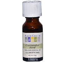 Эфирное масло семян кориандра, Aura Cacia, 15 мл
