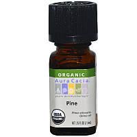 Aura Cacia, Organic, сосна, 0,25 жидкой унции (7,4 мл)