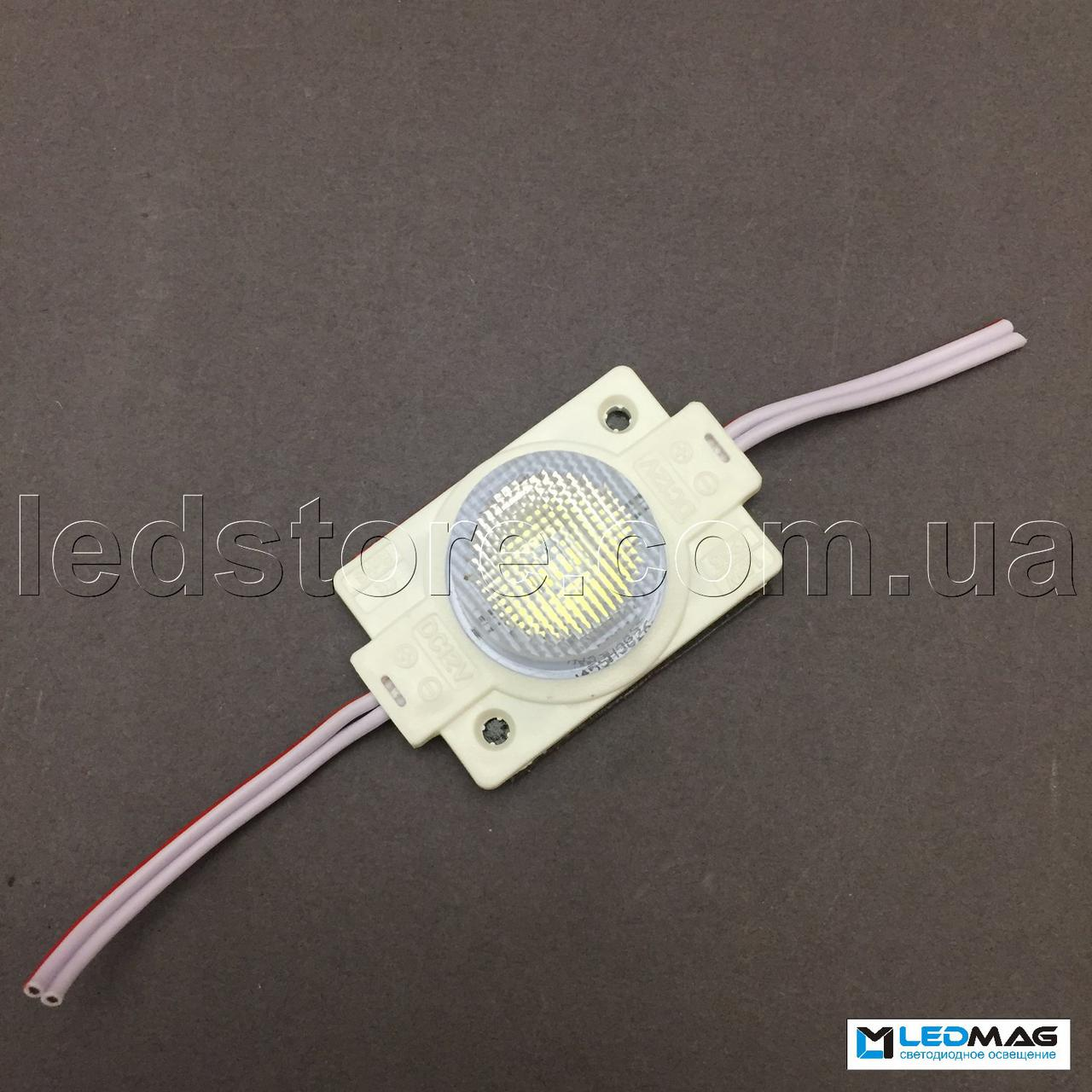 Светодиодный модуль с линзой 1LED SMD2835 Белый 5000-5500К IP65 (для торцевой подсветки)
