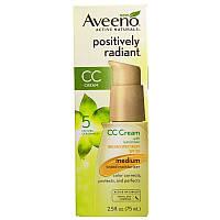 Солнцезащитный СС крем для лица, SPF 30 (Positively Radiant CC Cream), Aveeno, 75 мл