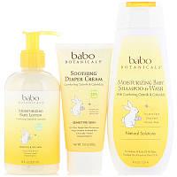 Подарочный набор для новорожденных, Babo Botanicals, 3 шт.