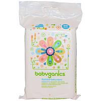Детские влажные салфетки, BabyGanics, 60 шт